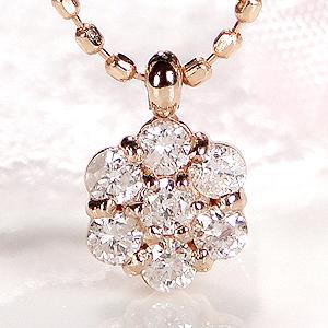 k18PG フラワーモチーフ ダイヤモンド ペンダントジュエリー アクセサリー ネックレス ペンダント フラワー 可愛い 人気 ダイヤモンド ダイア ダイヤ ゴールド ピンクゴールド 送料無料 品質保証書 代引手数料無料 プレゼント ラッピング済み