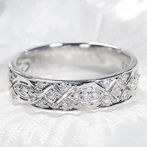 ◆Pt900【0.2ct】ダイヤモンド リングアンティーク 可愛い プラチナリング 指輪 ダイヤ リング 透かし プレゼント 4月誕生石【送料無料】【代引手数料無料】【品質保証書】