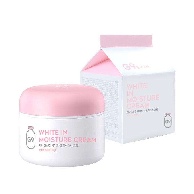 G9SKIN G9スキン White In Moisture Cream ホワイトインモイスチャークリーム 透明肌 水分たっぷり 保湿効果クリーム フェイスクリーム お肌 スキンケア 化粧品 コスメ 韓国コスメ 美白 クリーム