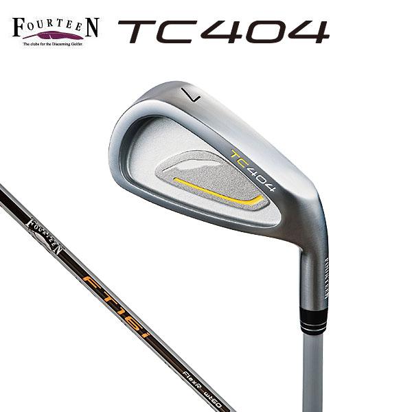 フォーティーン メンズ TC404 アイアン 5本セット(#6~9、PW) FT-16i カーボンシャフト [2016年モデル] [有賀園ゴルフ]
