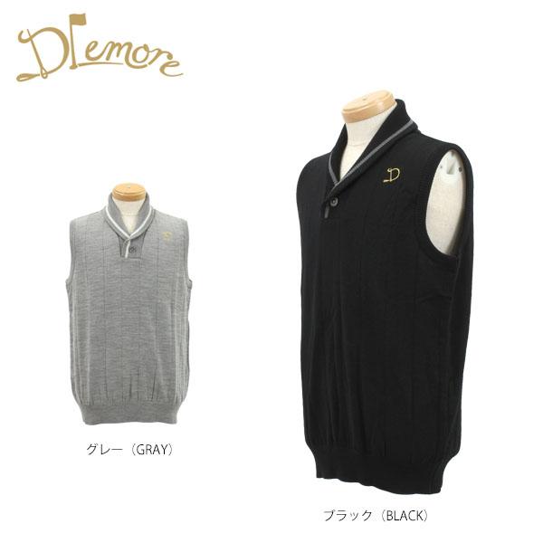 ドレモア メンズ ニットベスト 16AW-DMK3 ゴルフウェア [2016年秋冬モデル 55%OFF] バーゲン 【あす楽対応】 [有賀園ゴルフ]