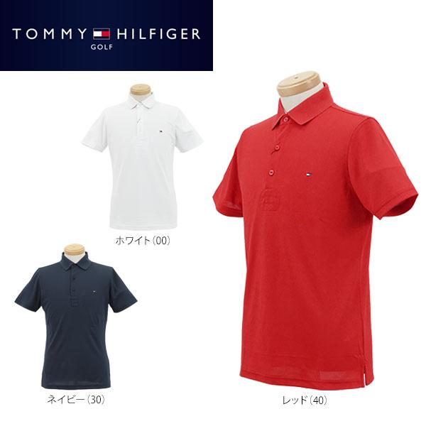 [送料無料] トミー ヒルフィガー ゴルフ メンズ 半袖 鹿の子 ポロシャツ THMA709 [2017年春夏モデル] 【あす楽対応】 ゴルフウェア 【ポイント10倍(8/27 9:59まで)】 [有賀園ゴルフ]