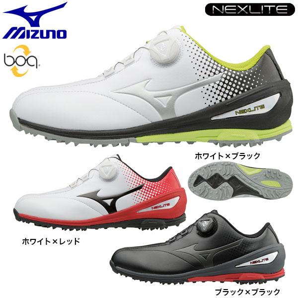 [2017年モデル] メンズ スパイクレス Boa ネクスライト NEXLITE 51GM1720  ミズノ ゴルフシューズ 004 [有賀園ゴルフ]