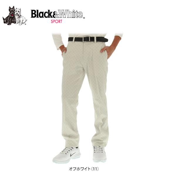 ブラック&ホワイト メンズ ロングパンツ 5017GF/HC [2017年モデル] ゴルフウェア [秋冬モデル 59%OFF] 特価 [裾上げ対応3] 【あす楽対応】 [有賀園ゴルフ]