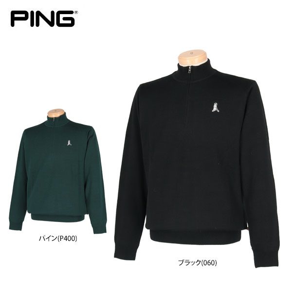 ピンゴルフ メンズ 長袖 ハーフジップセーター 34322 ゴルフウェア [2018年秋冬モデル 30%OFF] 【あす楽対応】 [有賀園ゴルフ]