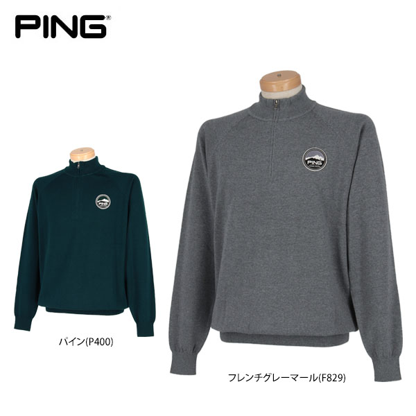 ピンゴルフ メンズ 長袖 ハーフジップセーター 34323 ゴルフウェア [2018年秋冬モデル 30%OFF] 【あす楽対応】 [有賀園ゴルフ]