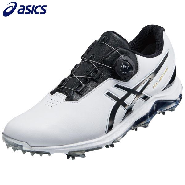 アシックス メンズ GEL-ACE PRO 4 BOA ゲルエース プロ4 ボア ソフトスパイク ゴルフシューズ 1113A002 ホワイト/ブラック 100 [2019年モデル] * [有賀園ゴルフ]