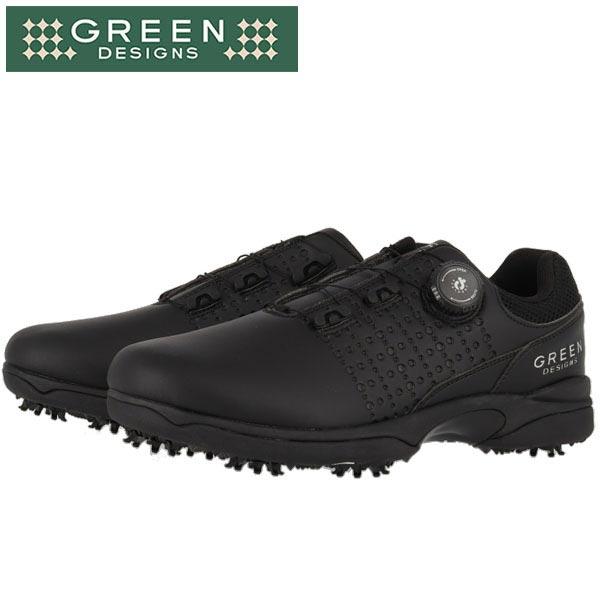 グリーンデザインズ メンズ ソフトスパイク ゴルフシューズ GDGS1901 BK ブラック [2019年モデル] 【あす楽対応】 [有賀園ゴルフ]