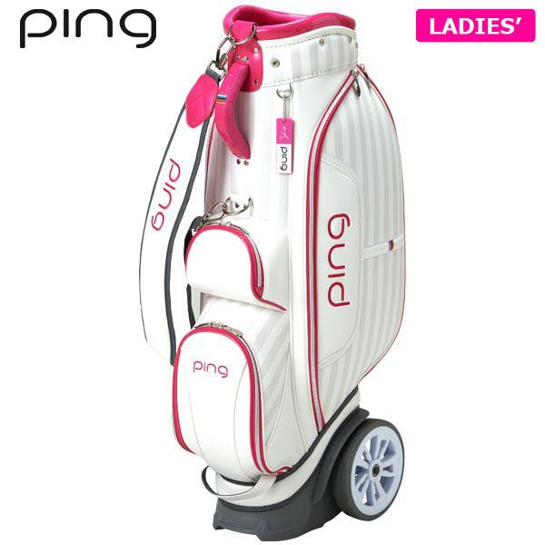 PING ピン レディース ローラー付き キャディバッグ CB-L192 34858-01 WHITE/PINK [有賀園ゴルフ]