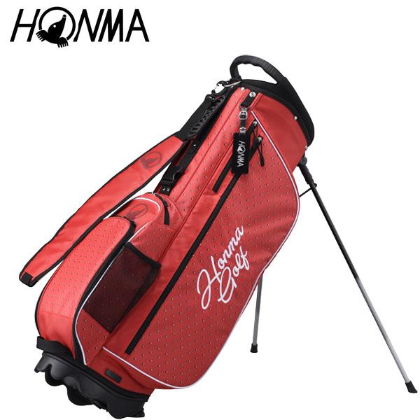 本間ゴルフ ユニセックス 軽量 スタンド キャディバッグ CB-1927 RED レッド [2019年モデル] [有賀園ゴルフ]
