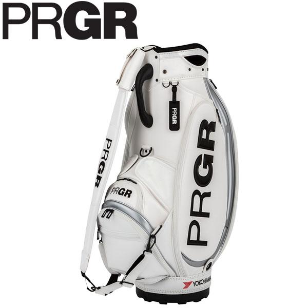 PRGR プロギア メンズ スポーツモデル 契約プロ使用 キャディバッグ PRCB-201 W ホワイト [2020年モデル] [有賀園ゴルフ]