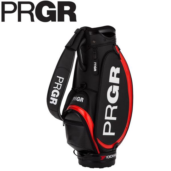 PRGR プロギア メンズ スポーツモデル プロ仕様コンパクト キャディバッグ PRCB-202 B ブラック [2020年モデル] [有賀園ゴルフ]