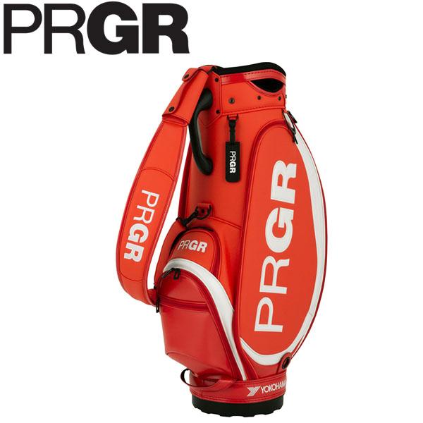 PRGR プロギア メンズ スポーツモデル プロ仕様コンパクト キャディバッグ PRCB-202 OR オレンジレッド [2020年モデル] [有賀園ゴルフ]