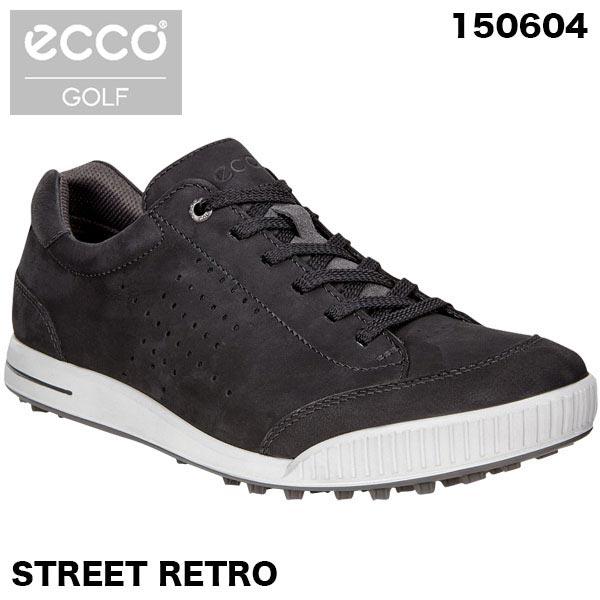ecco エコー メンズ STREET RETRO スパイクレス ゴルフシューズ 150604 BLACK/BLACK 51052 [2018年モデル] 特価 【あす楽対応】 [有賀園ゴルフ]