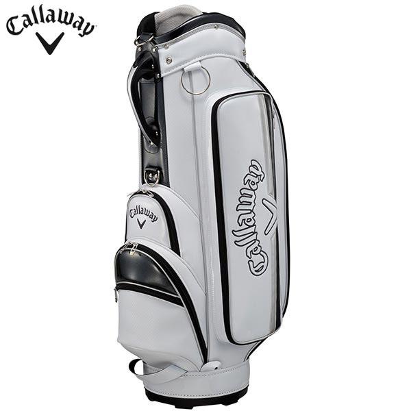 キャロウェイ メンズ Solid ソリッド キャディバッグ 20 JM 5120277 ホワイト/シルバー [2020年モデル] [有賀園ゴルフ]