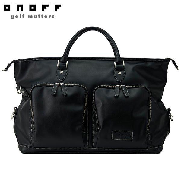 ONOFF オノフ メンズ PU レザー ボストンバッグ OV1020 02 ブラック [2020年モデル] [有賀園ゴルフ]