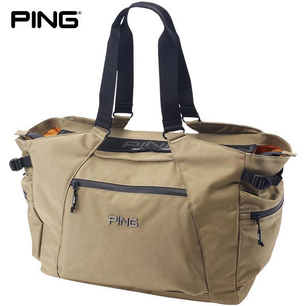 PING ピン メンズ マウンテンシリーズ トートバッグ GB-P202 35044-02 Beige [2020年モデル] [有賀園ゴルフ]