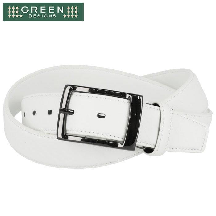 お見舞い green designs mens 激安 セール sale グリーンデザインズ 送料無料/新品 メンズ ストライプ柄 ベルト 2021年モデル GD-AR-113 56%OFF 特価 あす楽対応 ホワイト ゴルフウェア 有賀園ゴルフ WHITE