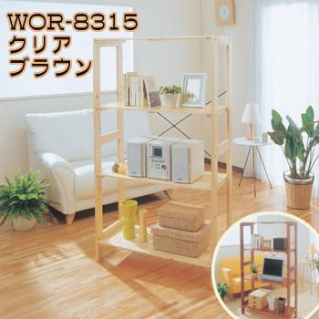 ウッディラック 4段 WOR-8315 幅83.5×奥行35×高さ147cm【収納/家具/棚/シェルフ/ラック/インテリア】 カラーボックス