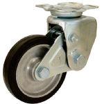 【シシク】緩衝キャスター 固定 200径 ゴム車輪 SAK-TO-200TRAW【TN】【TC】【緩衝キャスター(ゴム車)/緩衝キャスター/キャスター/シシクSISIKUアドクライス】