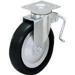 【LAMP】重量用キャスター径203自在ブレーキ付D(200-038-294) 31-408B-PD【TN】【TC】【重荷重用キャスター(エラストマー車・クロロプレンゴム車)/重荷重用キャスター/キャスター/スガツネ工業】