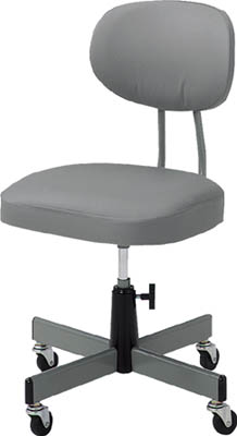 【TRUSCO】オフィスチェアグレー標準事務椅子 T-80【TN】【TC】【オフィスチェア/事務用家具/トラスコ中山】
