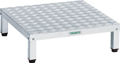 【TRUSCO】高床用アルミ製ステップ 600mmX450mm TFSH-0645AL【TN】【TC】【作業用踏台(アルミ製)/作業用踏台/はしご・脚立/トラスコ中山】