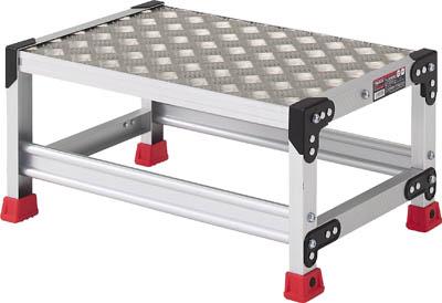 【TRUSCO】アルミ合金製作業台 縞鋼板 600X400X500 TSFC-165【TN】【TC】【作業用踏台(アルミ製)/作業用踏台/はしご・脚立/トラスコ中山】