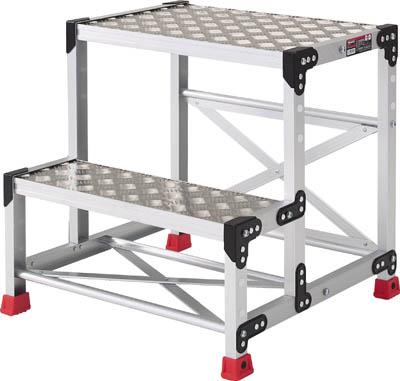 【TRUSCO】アルミ合金製作業台 縞鋼板 500X400X700 TSFC-257【TN】【TC】【作業用踏台(アルミ製)/作業用踏台/はしご・脚立/トラスコ中山】