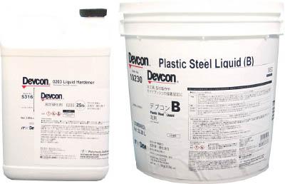 【デブコン】デブコン B 25lb(11.3kg)鉄分・液状タイプ 10230[デブコン 補修剤環境安全用品接着剤・補修剤金属用補修剤]【TN】【TC】 P01Jul16