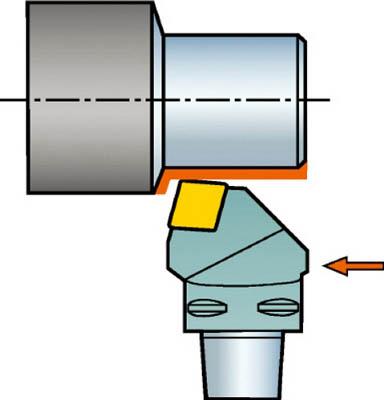 【サンドビック】サンドビック コロマントキャプト T-Max P用カッティングヘッド C5PCRNL2706012[サンドビック ホルダー切削工具旋削・フライス加工工具ホルダー]【TN】【TC】 P01Jul16