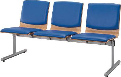 【取寄品】【アイリスチトセ】アイリスチトセ ウッドレスト 3人用 ブルー CWRBST3BL[アイリスチトセ 事務用家具オフィス住設用品オフィス家具ロビーチェア]【TN】【TC】 P01Jul16