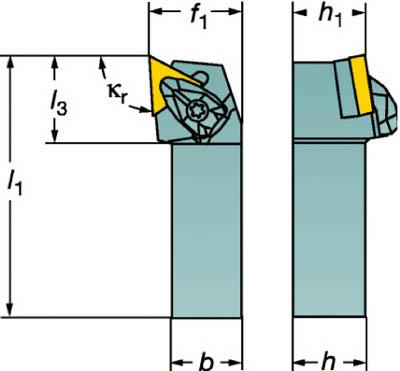 【サンドビック】サンドビック コロターンRC ネガチップ用シャンクバイト DTGNR1616H16[サンドビック ホルダー切削工具旋削・フライス加工工具ホルダー]【TN】【TC】 P01Jul16