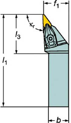 【サンドビック】サンドビック コロターンRC ネガチップ用シャンクバイト DVJNR3232P16[サンドビック ホルダー切削工具旋削・フライス加工工具ホルダー]【TN】【TC】 P01Jul16