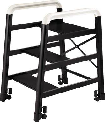 【ハセガワ】ハセガワ アルミ製組立式踏台 DE型 3段 ブラック DE3B[ハセガワ 踏み台工事用品はしご・脚立簡易踏台]【TN】【TC】 P01Jul16