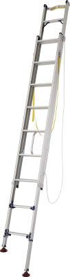 ピカ 脚アジャスト式2連はしごLGW型電柱支え・巻付ベルト付属4.8~5.2m LGW52GDピカ 梯子工事用品はしご・脚立はしご【TN】【TD】