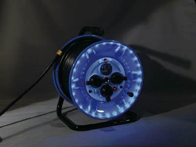 日動 防雨型電工ドラム LEDラインドラム 青 NPWLEK33B日動 ランプ工事用品コードリール・延長コードコードリール防雨型【TN】【TC】