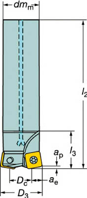 【サンドビック】サンドビック コロミル210カッター R210052C514Mサンドビック カッター切削工具旋削・フライス加工工具ホルダー【TN】【TC】
