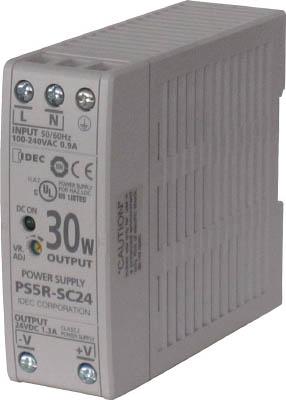 【IDEC】IDEC PS5R-S形スイッチングパワーサプライ(薄形DINレール取付電源) PS5RSD24IDEC 制御機器生産加工用品電気・電子部品電源装置【TN】【TC】