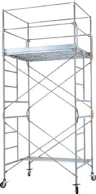 【取寄品】ピカ 鋼管製移動式足場ローリングタワーRA型 4段アウトリガー付き RA4Hピカ 高所作業台工事用品はしご・脚立高所作業台【TN】【TC】