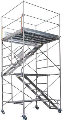 【取寄品】ピカ 鋼管製移動式足場ローリングタワー内階段仕様 RA2UAピカ 高所作業台工事用品はしご・脚立高所作業台【TN】【TC】