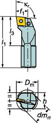 【サンドビック】サンドビック T-Max P ネガチップ用ボーリングバイト S20SPCLNR09サンドビック ホルダー切削工具旋削・フライス加工工具ホルダー【TN】【TC】