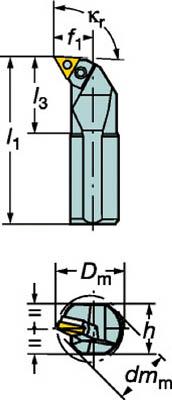 【サンドビック】サンドビック T-Max P ネガチップ用ボーリングバイト S50WPTFNR16Wサンドビック ホルダー切削工具旋削・フライス加工工具ホルダー【TN】【TC】