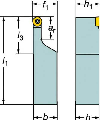 【サンドビック】サンドビック コロターン107 ポジチップ用シャンクバイト SRDCR2525M08Aサンドビック ホルダー切削工具旋削・フライス加工工具ホルダー【TN】【TC】