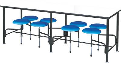 【取寄品】【ニシキ】ニシキ 食堂テーブル 8人掛 ブルー STM2175Bニシキ 会議テーブルオフィス住設用品オフィス家具食堂用テーブル【TN】【TD】