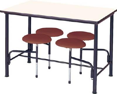 【取寄品】【ニシキ】ニシキ 食堂テーブル 4人掛 ブラウン STM1275BRニシキ 会議テーブルオフィス住設用品オフィス家具食堂用テーブル【TN】【TD】