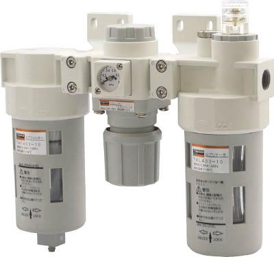 TRUSCO FRLユニット 口径Rc1/4 TACT4038TRUSCO Nエアー補器生産加工用品空圧・油圧機器エアユニット【TN】【TC】