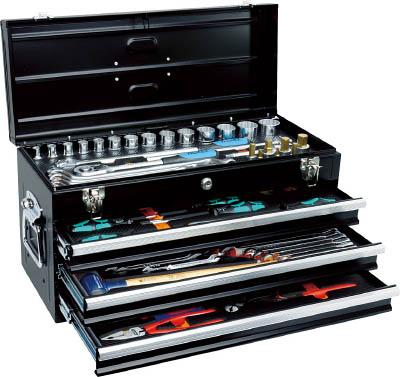 TRUSCO インポートツールセット 62点 マットブラック色 TIT62SBKTRUSCO 工具セットI作業用品工具セットチェストタイプ【TN】【TC】