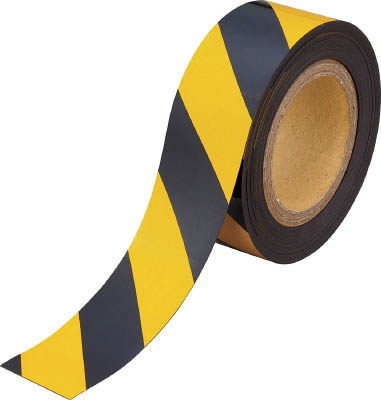 TRUSCO マグネット反射シート 黄・黒 180mmX10m TMGH1810BYTRUSCO マグネットNM環境安全用品安全用品安全クッション【TN】【TC】【6ss】