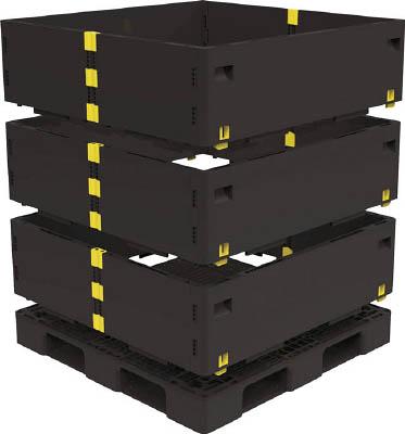 TRUSCO マルチステージコンテナ 3段 1100X1100 黒 TMSCS1111BKTRUSCO パレットIG物流保管用品コンテナ・パレットパレット【TN】【TC】